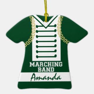 Verde uniforme de la foto de la banda adorno de reyes