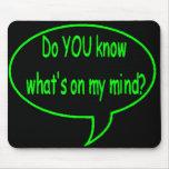 ¿Verde USTED sabe cuál está en mi mente? Burbuja d Tapete De Raton
