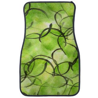 verde vanguardista del fondo de la pintura de la alfombrilla de auto