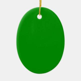 Verde verdadero adorno ovalado de cerámica