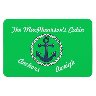 Verde verde Aweigh del marcador de la puerta de Rectangle Magnet