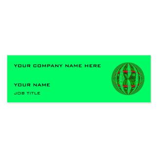 Verde verde de la tarjeta de visita del orbe flaco