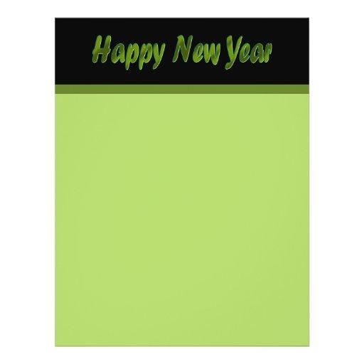 Verde verde oliva de la Feliz Año Nuevo Tarjetas Informativas