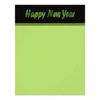"Verde verde oliva de la Feliz Año Nuevo Folleto 8.5"" X 11"""