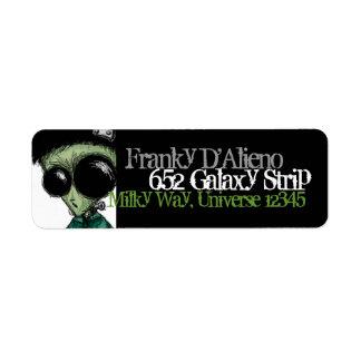 Verde verde oliva negro extranjero de Frankenstein Etiquetas De Remite