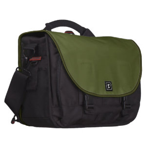 Verde verde oliva y bolso superior negro del orden bolsas para portatil