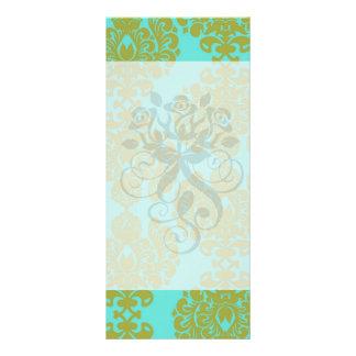 verde verde oliva y damasco azul del fleur de la a plantilla de lona