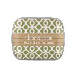 Verde verde oliva y favor marroquí del boda del or jarrones de caramelos