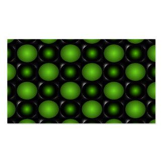 Verde verdoso del diseño del tablero de ajedrez 3D Tarjetas De Visita