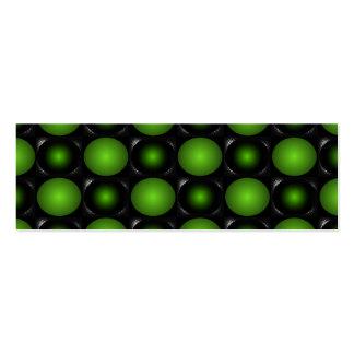 Verde verdoso del diseño del tablero de ajedrez 3D Tarjetas De Visita Mini