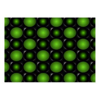 Verde verdoso del diseño del tablero de ajedrez 3D Tarjetas De Visita Grandes