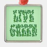 Verde vivo adorno para reyes