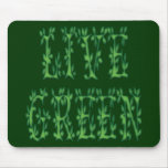 Verde vivo alfombrillas de ratón