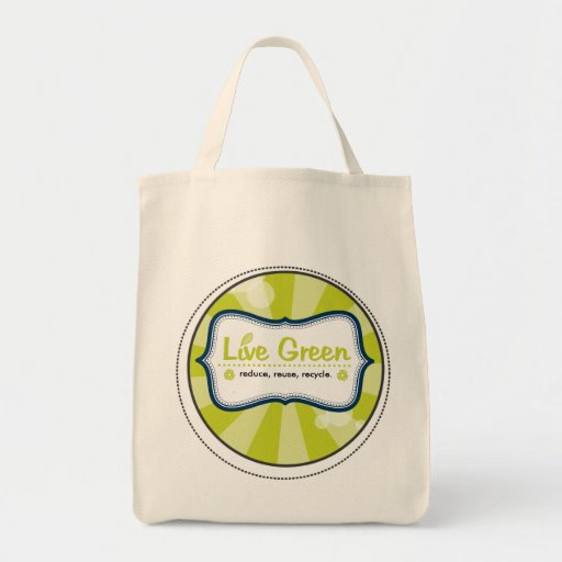 Verde vivo bolsa tela para la compra