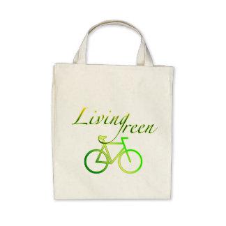 Verde vivo bolsas de mano