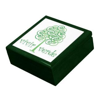 Verde vivo cajas de recuerdo