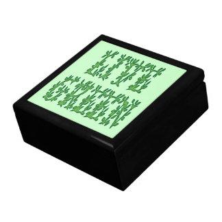 Verde vivo caja de joyas