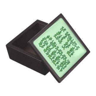 Verde vivo cajas de joyas de calidad