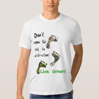 ¡Verde vivo! camiseta Playeras