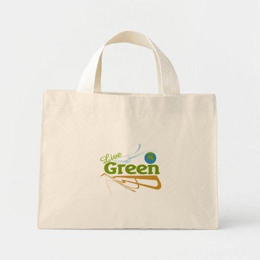 verde vivo de la tierra bolsas lienzo