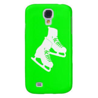 Verde vivo de los patines de hielo de HTC