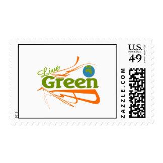 verde vivo del planeta sello