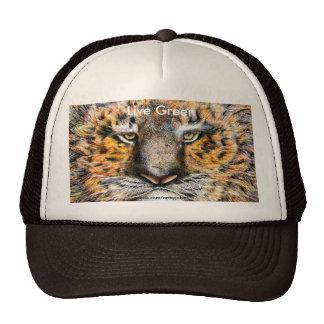 Verde vivo del tigre, gorra