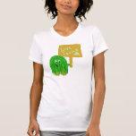 Verde vivo del verde camiseta