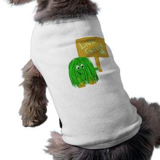 Verde vivo del verde playera sin mangas para perro