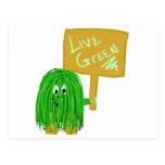 Verde vivo del verde postal