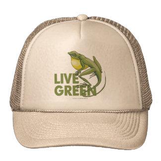 Verde vivo gorro de camionero