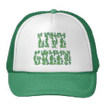 Verde vivo gorros