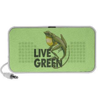Verde vivo lagarto mp3 altavoz