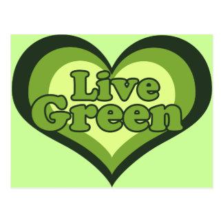 Verde vivo para el día de Eath Postales