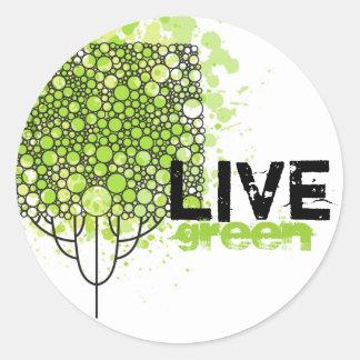 Verde vivo pegatina