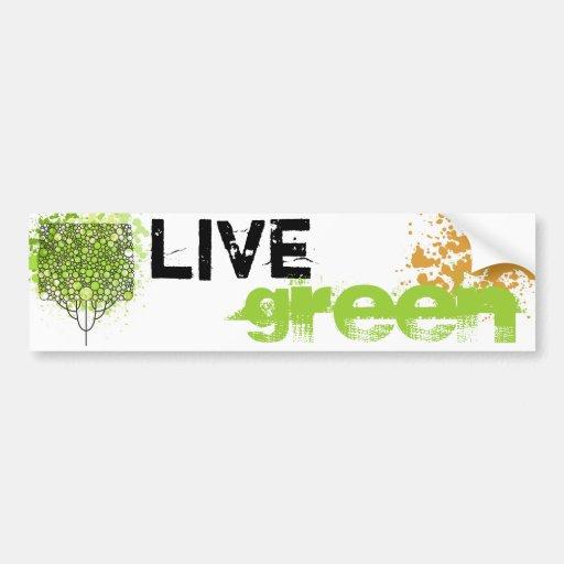 Verde vivo pegatina para auto