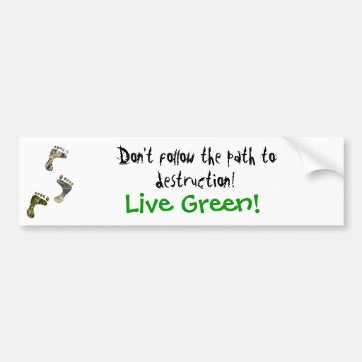 ¡Verde vivo! pegatina para el parachoques Etiqueta De Parachoque