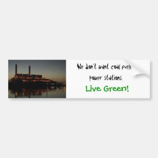 ¡Verde vivo! pegatina para el parachoques Pegatina Para Auto