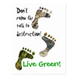 ¡Verde vivo! postal