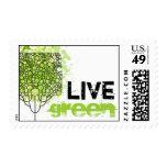 Verde vivo sellos