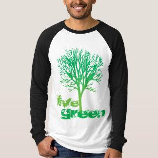 Verde vivo T Playera