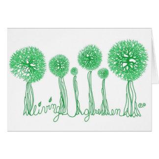 Verde vivo tarjeta de felicitación