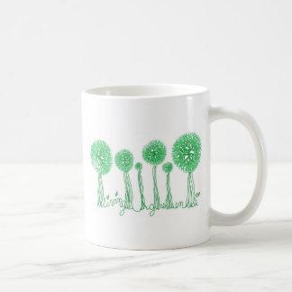 Verde vivo taza clásica