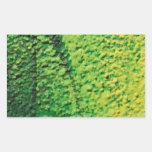 Verde y amarillo abstractos pegatina