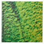 Verde y amarillo abstractos teja