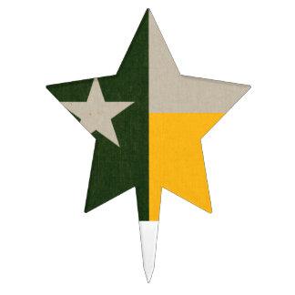 Verde y arpillera de la bandera de Tejas del oro Palillos De Tarta
