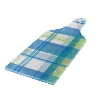 Verde y azul de la tela escocesa de Madras Tablas Para Cortar