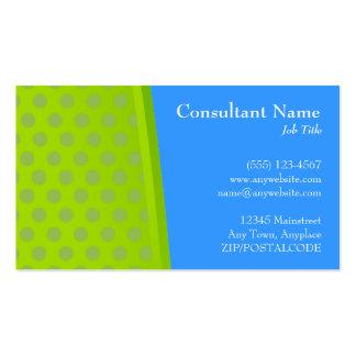 Verde y azul puntea la tarjeta moderna tarjetas de visita