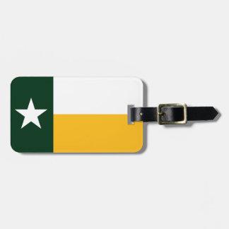 Verde y bandera de Tejas del oro Etiquetas Bolsa