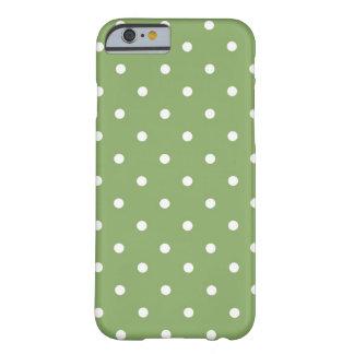 Verde y blanco del lunar funda para iPhone 6 barely there